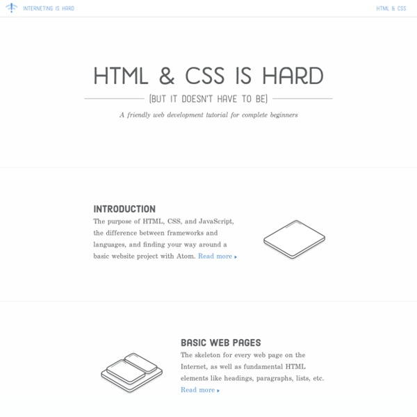 A friendly web development tutorial