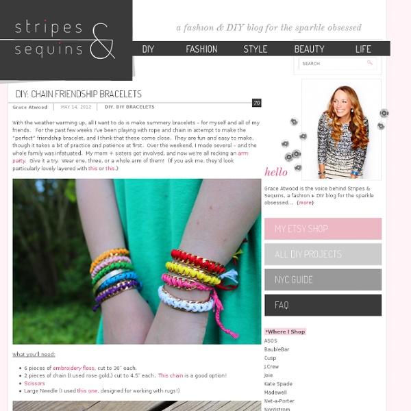 Chain Friendship Bracelets