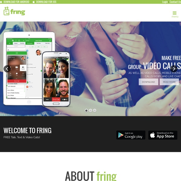 Fring - make FREE group video calls, video calls, mobile phone calls (VoIP) & live chat