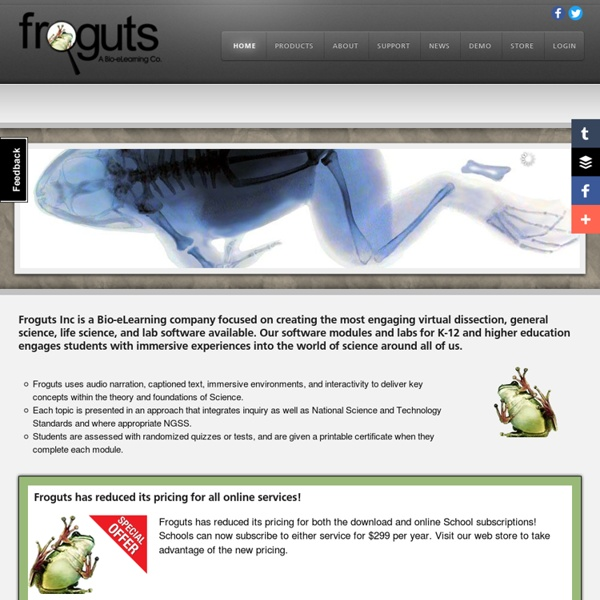 Froguts Virtual Dissections