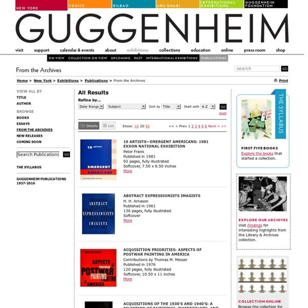 Guggenheim art catalogues online