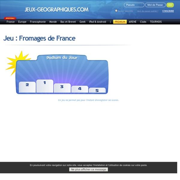 Jeu sur les fromages de France jeux gratuits