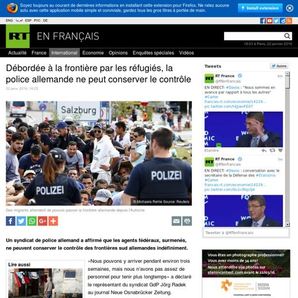 Débordée à la frontière par les réfugiés, la police allemande ne peut conserver le contrôle
