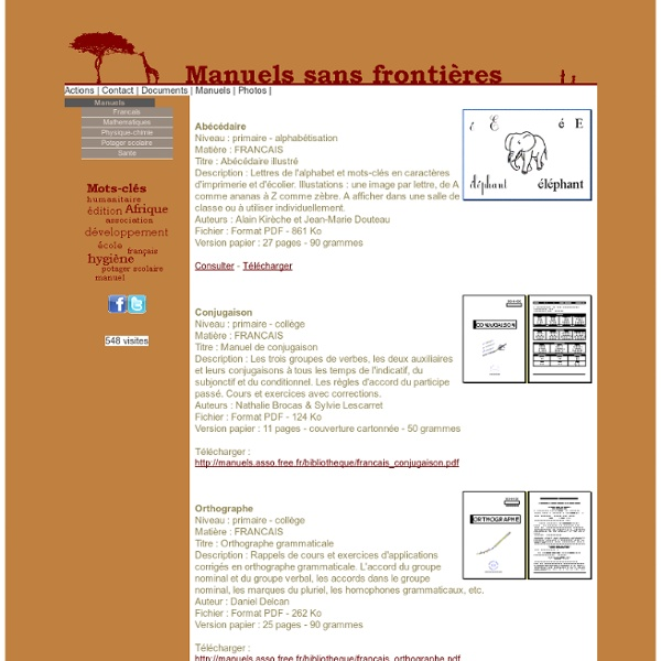 Manuels sans frontières : éditions humanitaires de manuels scolaires