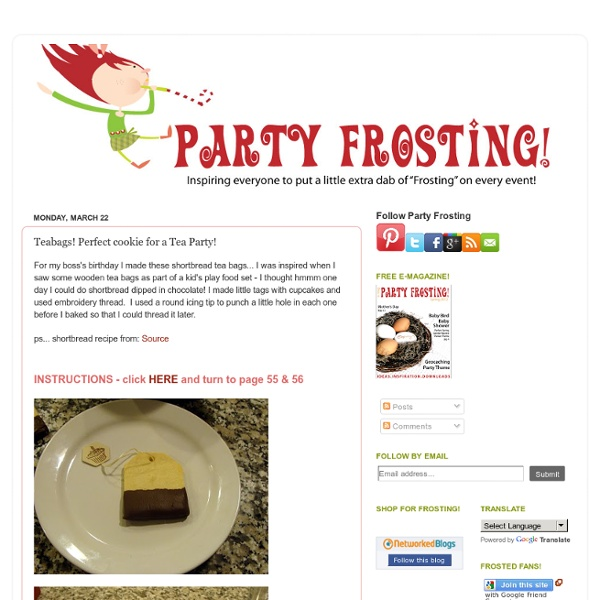 Party Frosting: Teabags! Perfect cookie for a Tea Party!