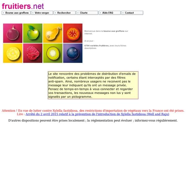Fruitiers.net : la bourse aux greffons sur internet !