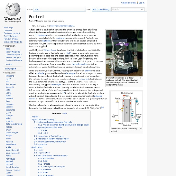Fuel cell - Wikipedia, the free encyclopedia