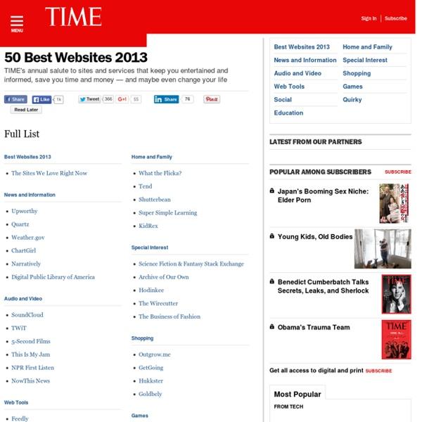 50 Best Websites 2013