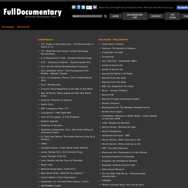 Fulldocumentary.net - Browse All Documentaries