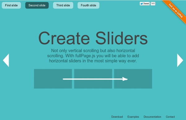 FullPage.js One Page Scroll Site Plugin