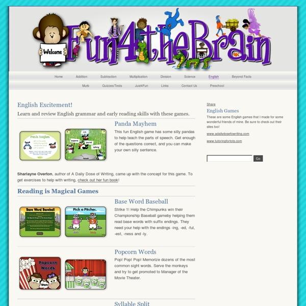 Fun 4 the Brain - English Games