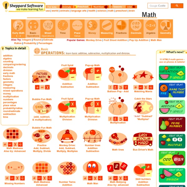 Fun Kids Online Math Games
