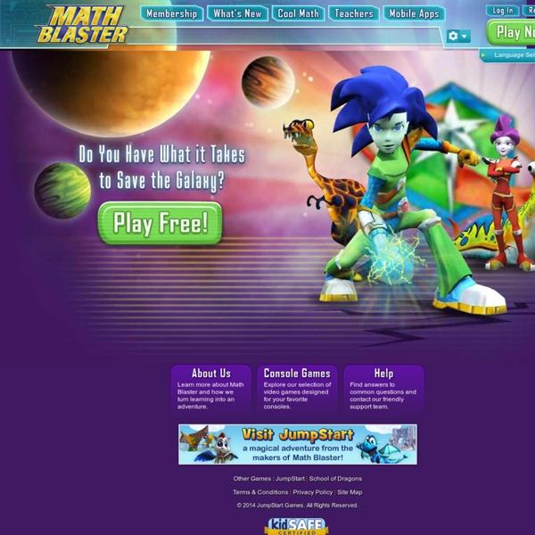 Fun Math Games for Kids - Math Blaster | Pearltrees