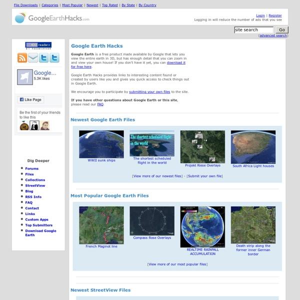 Fun stuff for Google Earth.