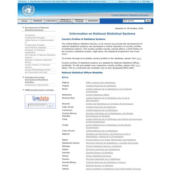 ONU Statistics Division - Fundamental Principles of Official Statistics