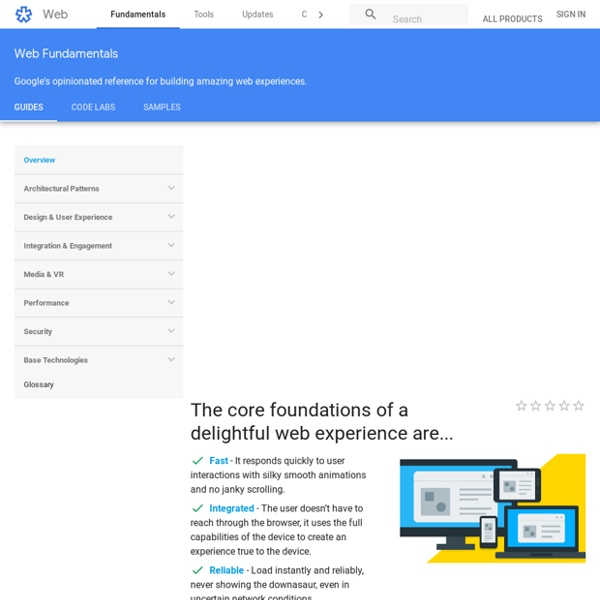 Web Fundamentals - Google Developers