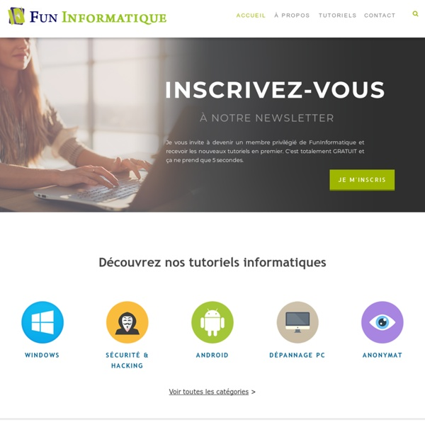 FunInformatique, des tutoriels informatiques accessibles à tous
