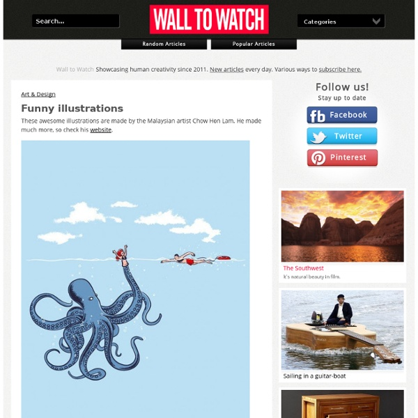 Funny illustrations - Wall to Watch - StumbleUpon