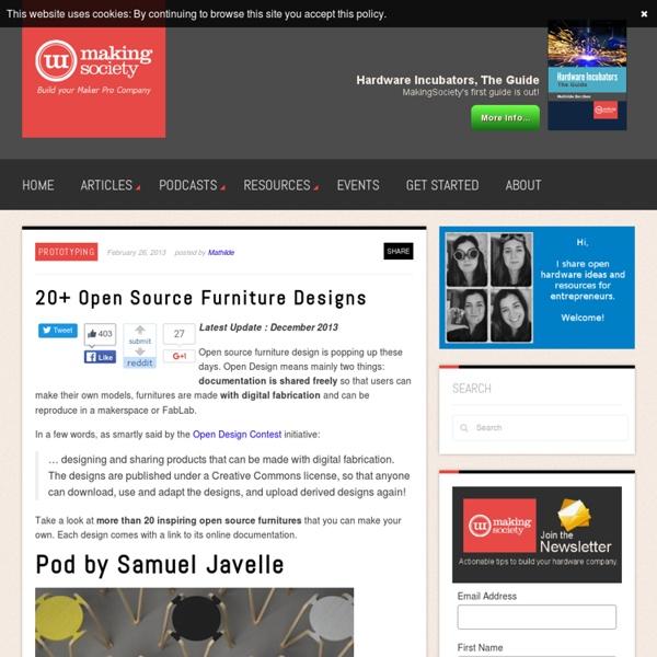 20+ Open Source Furniture Designs
