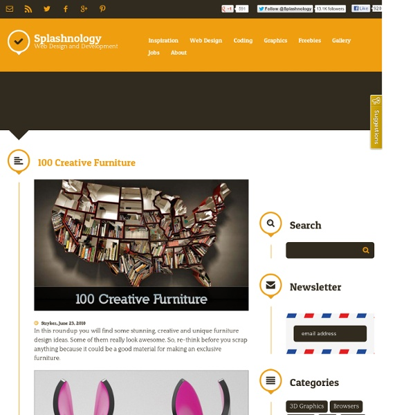 100 Creative Furniture / Inspiration / Splashnology - Web Design and Web... - StumbleUpon