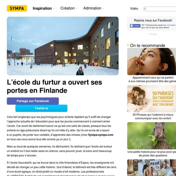 L'école dufurtur aouvert ses portes enFinlande
