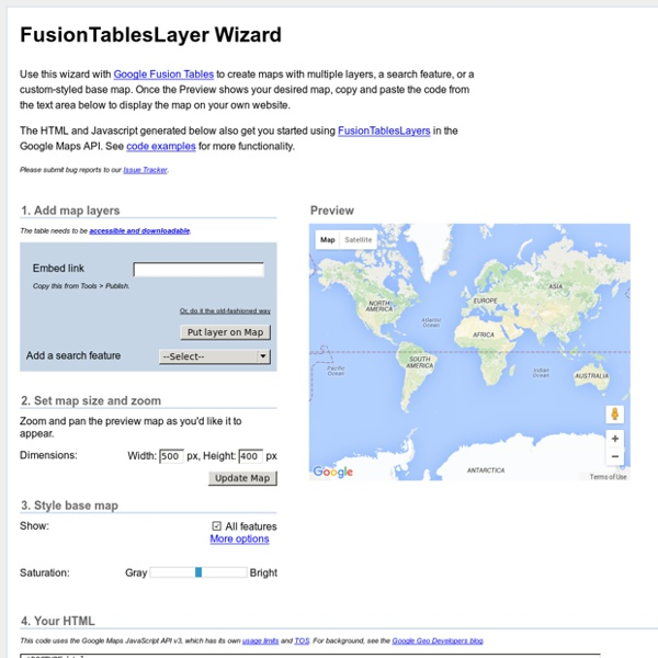 FusionTablesLayer Wizard
