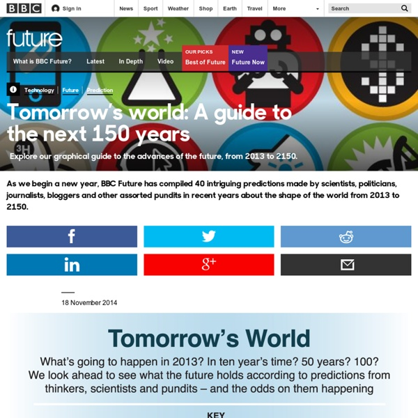 Technology - Tomorrow's world: A guide to the next 150 years