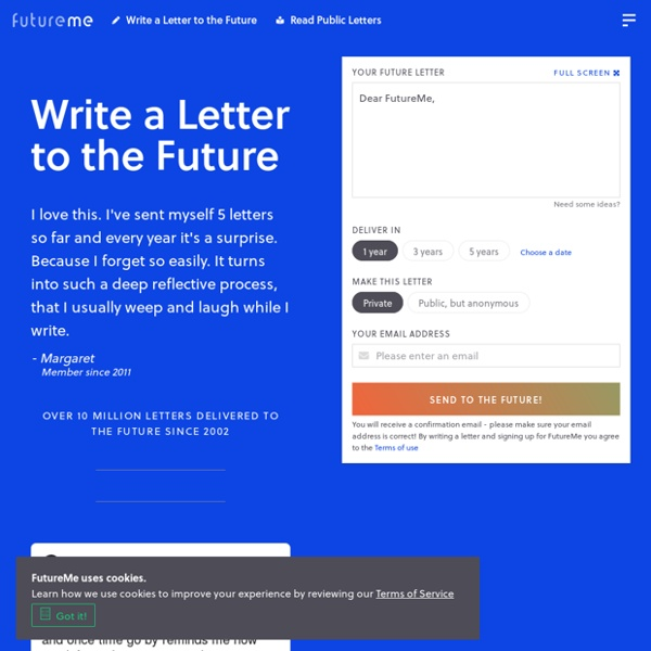 FutureMe.org: Write a Letter to the Future
