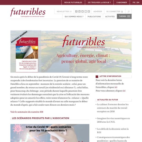 Futuribles - Veille, prospective, stratégie