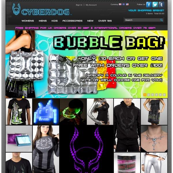Cyberdog.net - Futuristic fashion, t-shirts, clubwear, urban clothing and accessories.