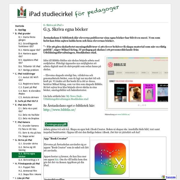G.3. Skriva egna böcker - iPad Studiecirkel