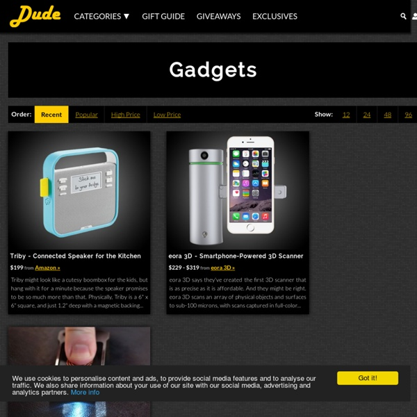 Gadgets Gifts - DudeIWantThat.com