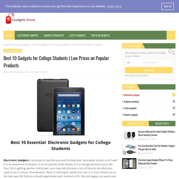 Best 10 Gadgets for College Students