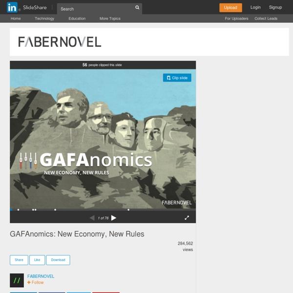 GAFAnomics: New Economy, New Rules