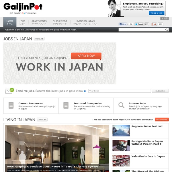 GaijinPot : Japan jobs, Apartments, Living Guide and Blogs