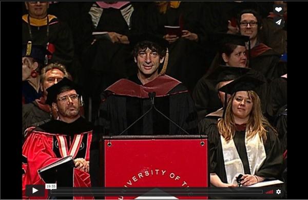 Neil Gaiman Addresses the University of the Arts Class of 2012 from The University of the Arts (Phl)