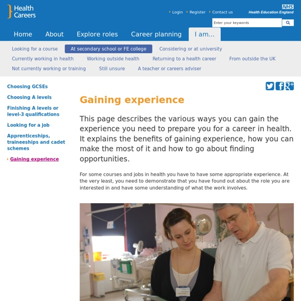 Gaining experience