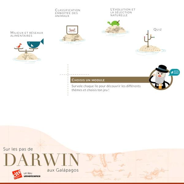 «Sur les pas de Darwin aux Galápagos» - Site interactif pour enfants – Jeux éducatifs web et tablettes - Cité des sciences et de l'industrie