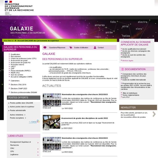 Galaxie - enseignants-chercheurs