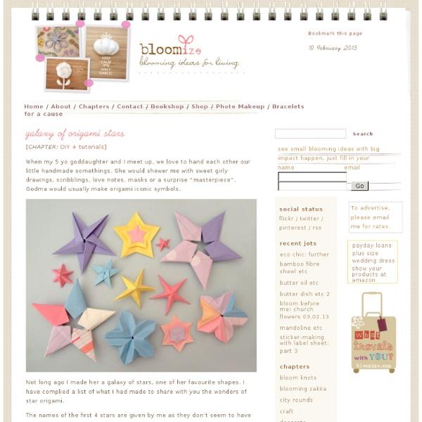 Galaxy de l'origami étoiles