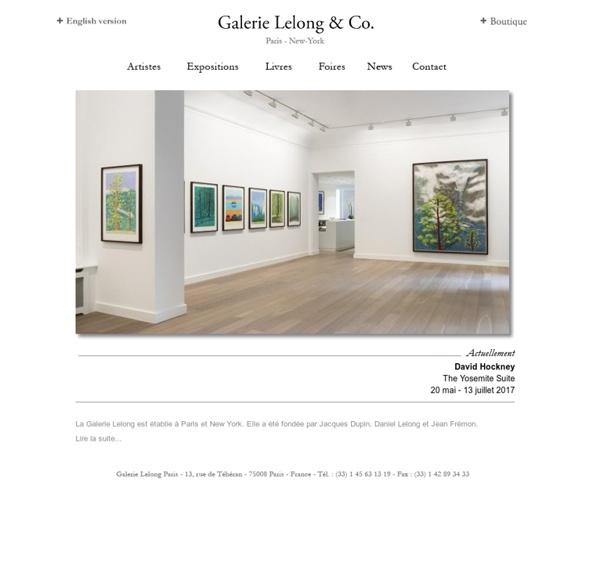 Galerie Lelong - Accueil