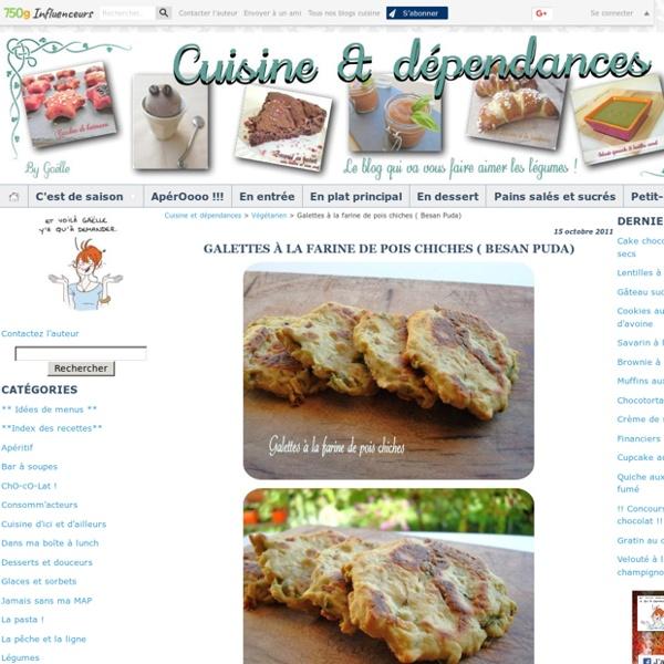 Galettes à la farine de pois chiches ( Besan Puda)