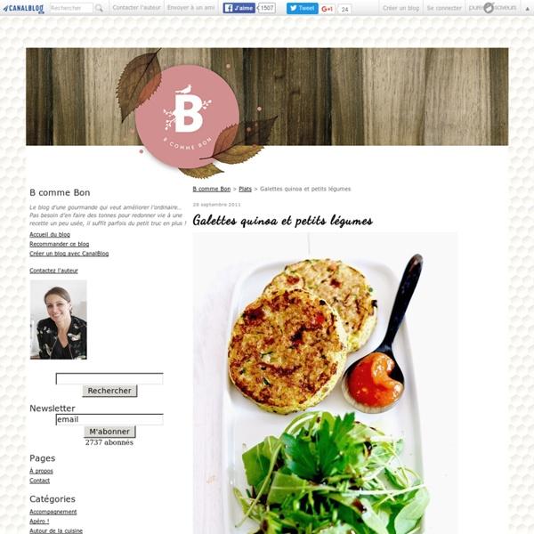 Galettes quinoa et petits légumes