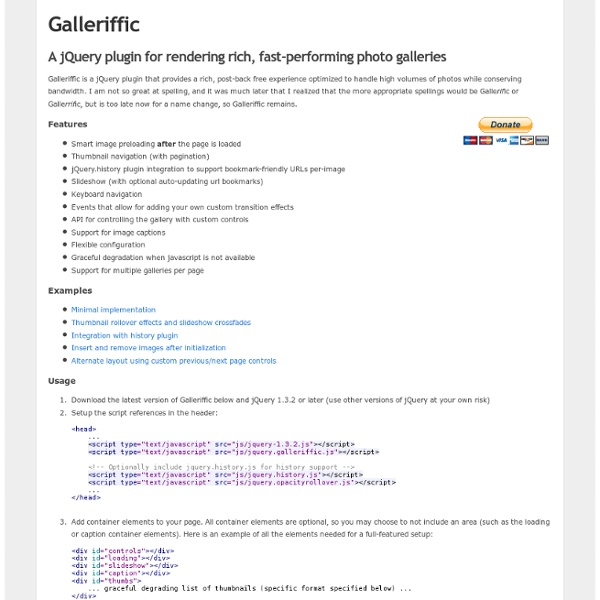 A jQuery plugin for rendering fast-performing photo galleries