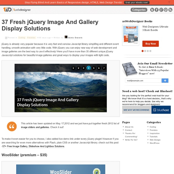 37 Fresh jQuery Image And Gallery Display Solutions