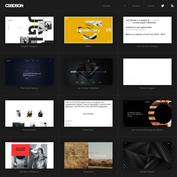 CSS Gallery - Web design inspiration - CssDsgn