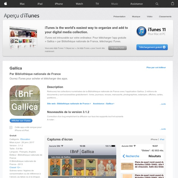 Gallica pour iPhone, iPod touch et iPad dans l'App Store sur iTunes