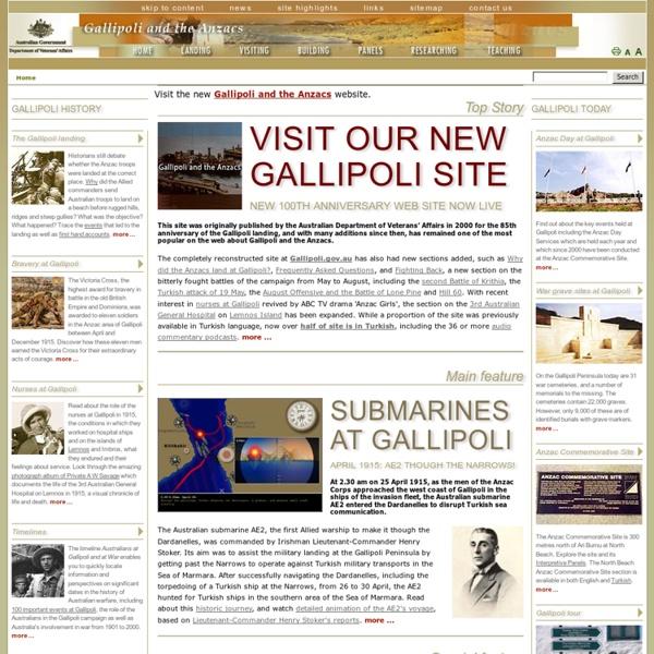 Gallipoli and the Anzacs - Australia