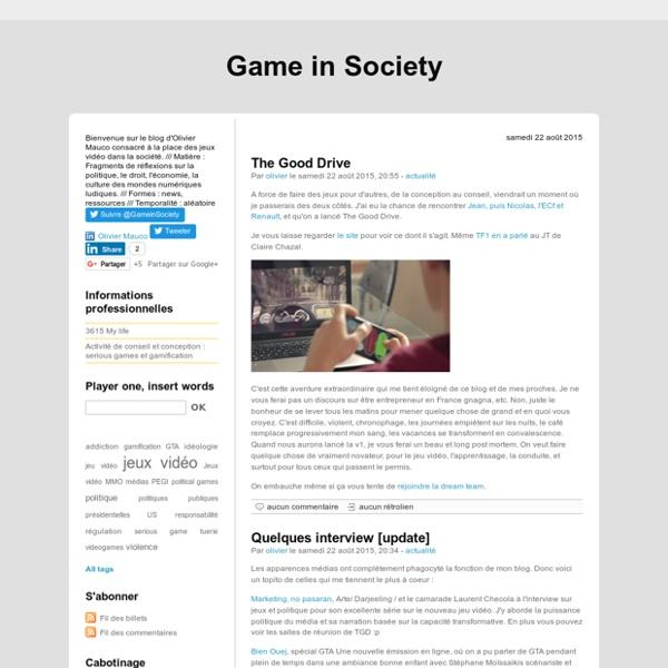 Game in Society