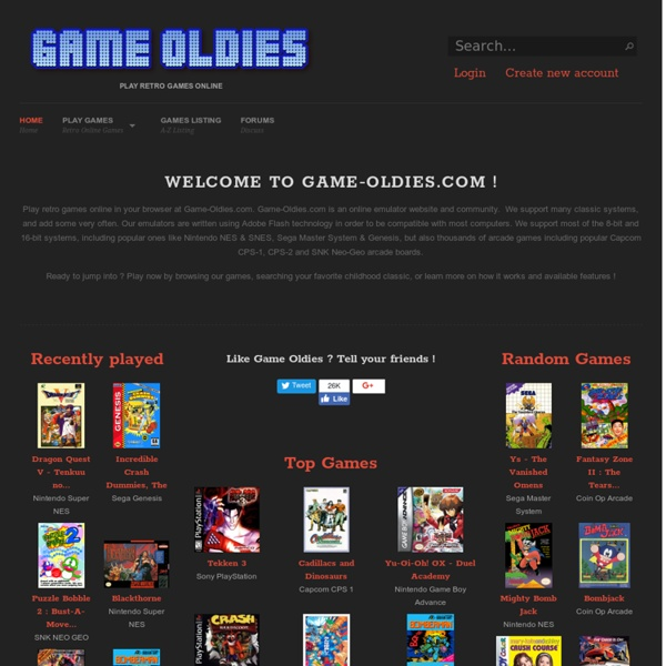 Play retro games online